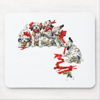 Holiday Dalmatian Pups Mouse Mat