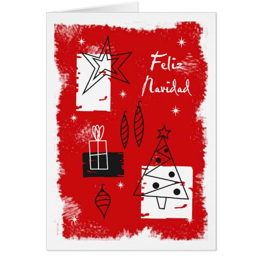 Holiday deco - spanish card