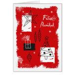 Holiday deco - spanish greeting card