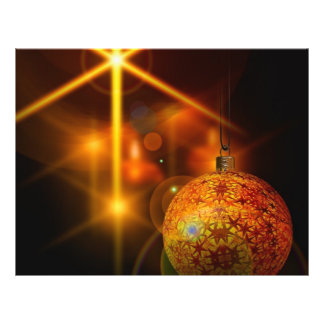 Holiday Decoration Gold Christmas Bauble Light Flyer
