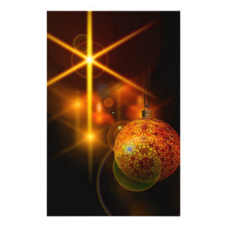 Holiday Decoration Gold Christmas Bauble Light Full Color Flyer