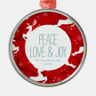 Holiday Deer Pattern Christmas Ornament