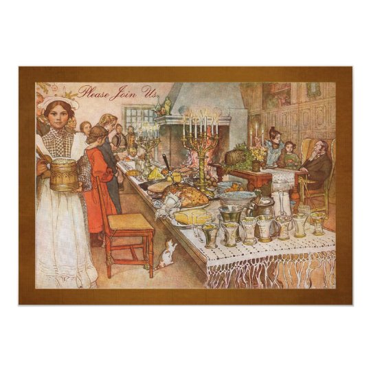 Holiday Dinner Party with Carl Larsson Card