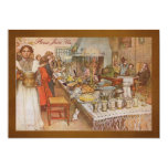 Holiday Dinner Party with Carl Larsson 13 Cm X 18 Cm Invitation Card
