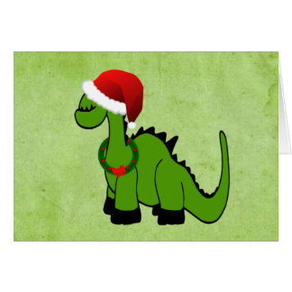 Holiday Dinosaur Card