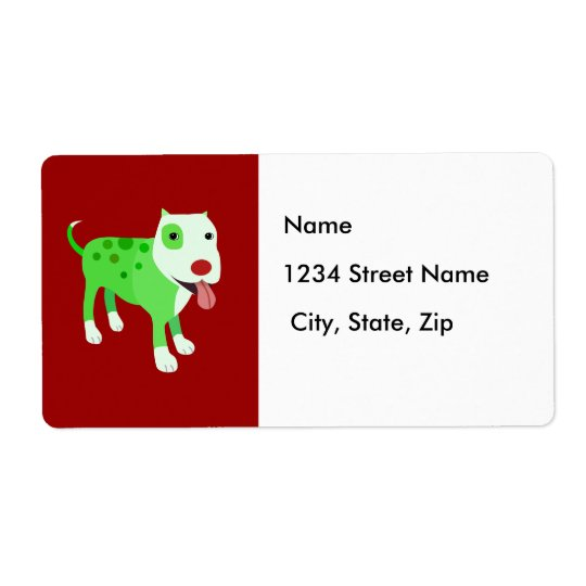 Holiday Dog Address Label