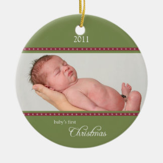 Holiday Dots Ornament green/wine