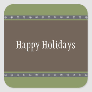 Holiday Dots Sticker green/navy