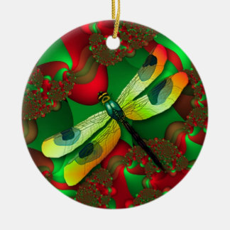 Holiday Dragonfly Ornament