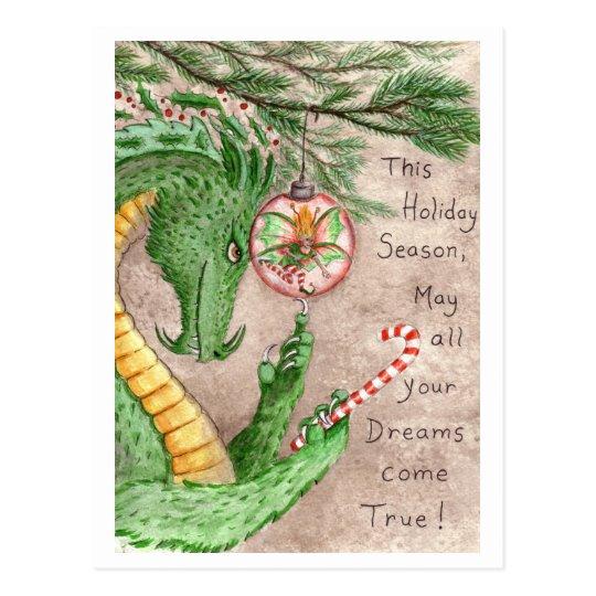 Holiday Dreams Dragon - postcard