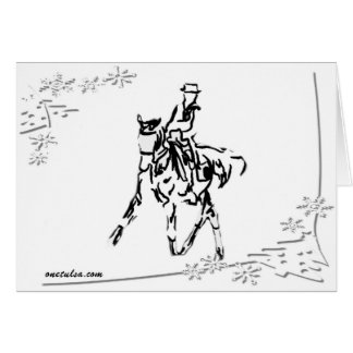 Holiday Dressage Card
