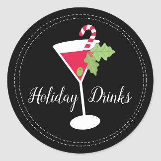 Holiday Drinks Cocktail Stickers