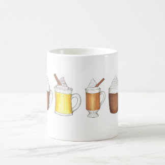 Holiday Drinks Egg Nog Buttered Rum Cocoa Mug
