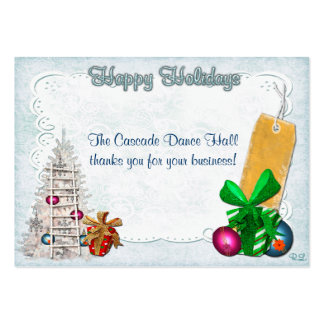 Holiday Elegance Christmas GIFT/DISCOUNT Pack Of Chubby Business Cards