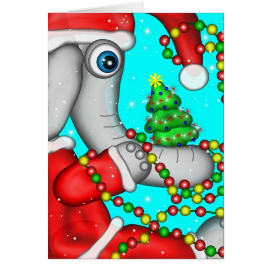 Holiday Elephant Card