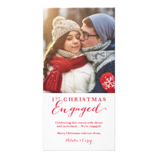 Holiday Engagement Photo Card