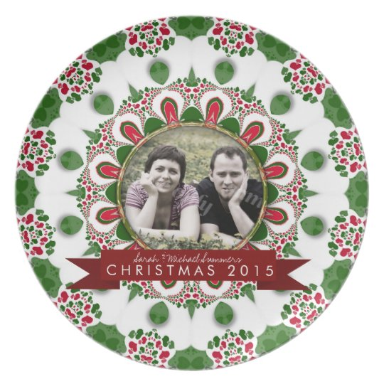 Holiday Family Friends Keepsake Photo Gift Plate