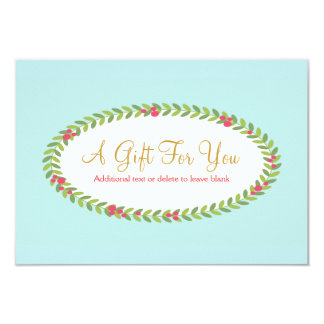 """Holiday Fashion and Beauty Gift Certificate 3.5"""" X 5"""" Invitation Card"""