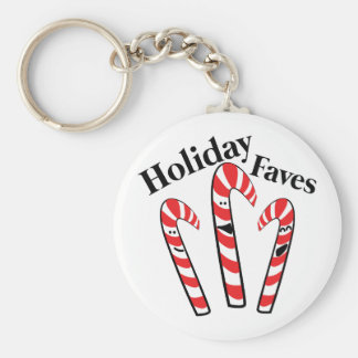 Holiday Faves Basic Round Button Key Ring