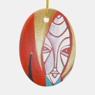 holiday feel good ceramic oval decoration