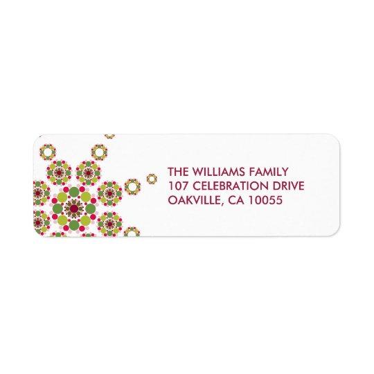 Holiday Festive Ornament Star Modern Address Label