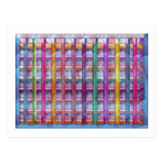 Holiday Fever Illuminated Colorful Flourscent Ro Postcards