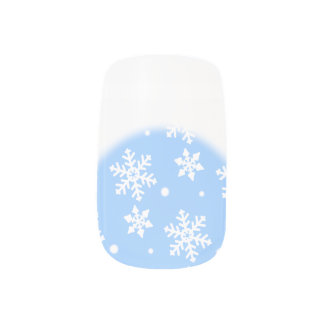Holiday Fingernails Christmas Snow Nail Decals