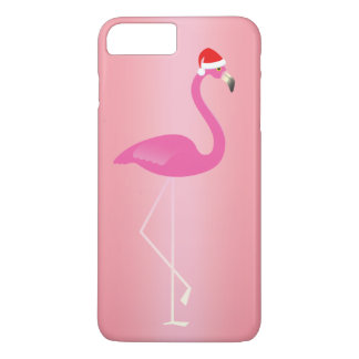 Holiday Flamingo iPhone 7 in Rose iPhone 7 Plus Case