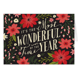 Holiday Floral Greeting Card