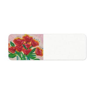 Holiday Floral Return Address Label