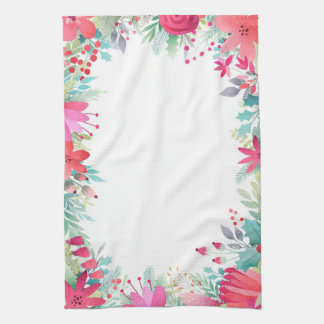 Holiday Floral Tea Towel