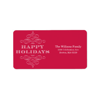 HOLIDAY FLOURISH | HOLIDAY ADDRESS LABELS