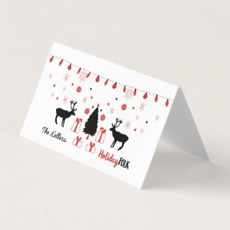 Holiday Folk Customizable Greeting Card
