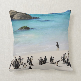 Holiday For Penguins Cushion