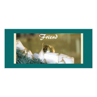 Holiday Friend Book Marker Full Color Rack Card