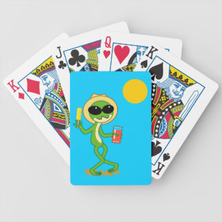 Holiday Frog Bicycle Playing Cards