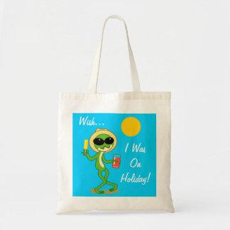 Holiday Frog Budget Tote Bag