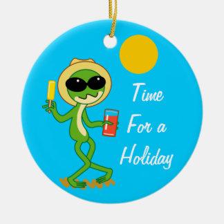 Holiday Frog Christmas Ornament
