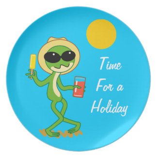 Holiday Frog Party Plates