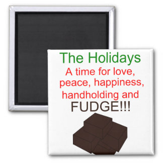 Holiday Fudge Square Magnet