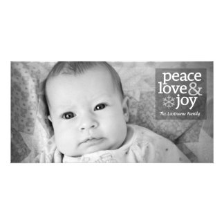 Holiday Full Photo Card - Peace Love and Joy