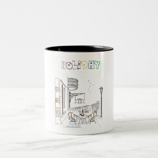 Holiday Getaway Two-Tone Coffee Mug