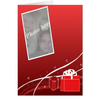 Holiday gift photocard greeting card