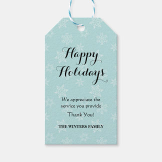Holiday gift tag for service providers
