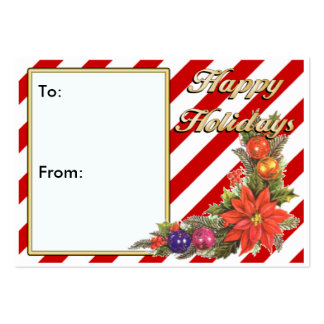 Holiday GIFT TAGS Pack Of Chubby Business Cards