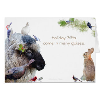 Holiday gifts come in many guises: Happy Holidays Card