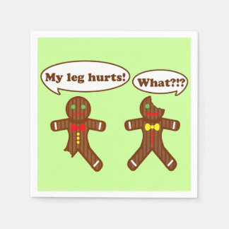 Holiday Gingerbread Humor Paper Napkin
