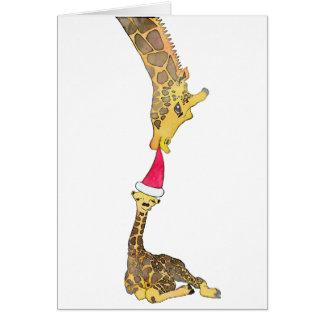 Holiday Giraffe Card