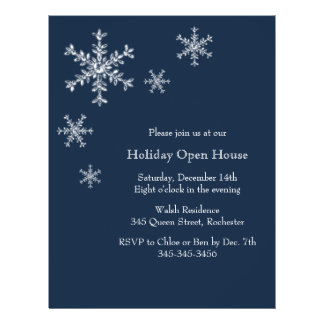 Holiday Glamour Open House Flyer Invitation