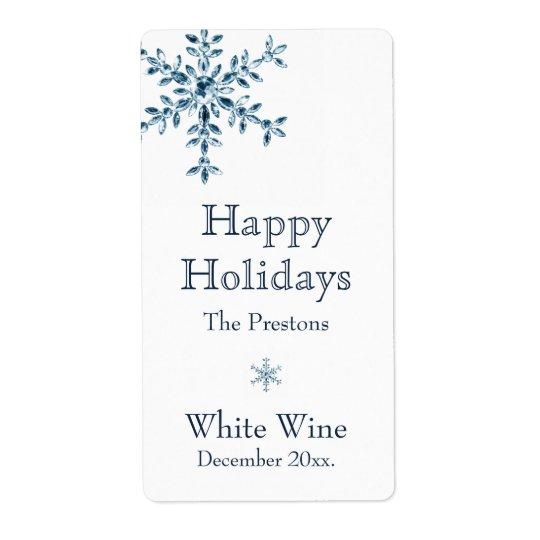 Holiday Glamour Wine Label (white)